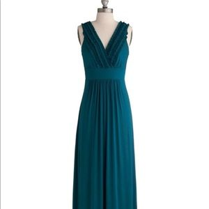 ModCloth Gilli USA Teal Sea the Sights Maxi Dress